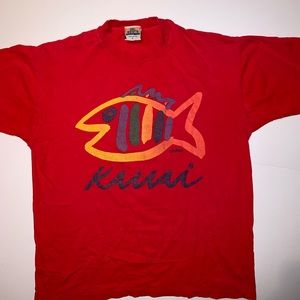 VINTAGE KAUAI t-shirt red SINGLE STITCH